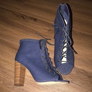 New Jean front tie Booties